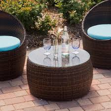 Dark Brown Wicker Patio Furniture by Furniture Fetching Outdoor Living Room Decoration With Wave Black