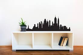 Eiffel Tower Wall Decals New York City Skyline Silhouette Wall Decal Custom Vinyl