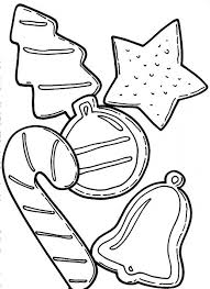 Star Candy And Other Ornaments For Christmas Tree Coloring Pages Tree Coloring Pages Ornaments