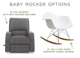 Recliner Rocker Chair Rocking The Knockoff Eames Chair Rather Square