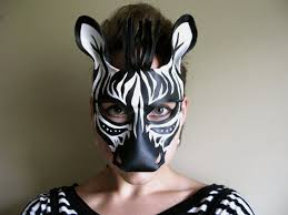 Halloween Costumes Masks Zebra Leather Mask Masquerade Mask Halloween Lovelyliddy