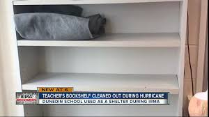 books missing from classroom used as hurricane shelter
