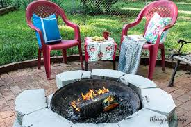 duraflame fire pit how to spray paint plastic chairs an easy makeover marty u0027s musings