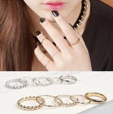 finger rings set images Fashion girls ring accessory top finger rings 5 piece set ring jpg