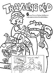 traveling kid coloring crayola