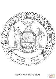 new york state seal coloring page free printable coloring pages