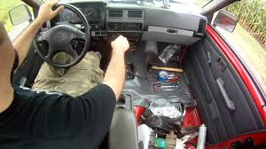 nissan pickup 1997 custom nissan d21 hardbody transmission swap in cab shifting youtube
