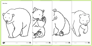 bears colouring sheets bears bear colouring fine motor