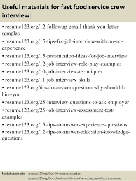 resume objective exles for service crew biology forums for all your science needs sle resume for fast