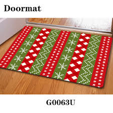 tree design winter area rug door floor mat reindeer