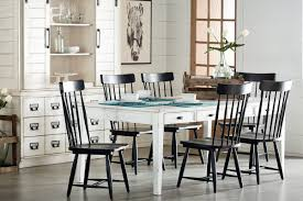 Dining Kitchen Magnolia Home - Black and white dining table with chairs