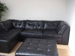 Black Leather Sectional Sofas Gorgeous Leather Sectional With Chaise And Ottoman Black Leather