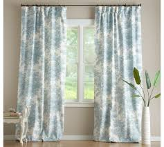 Pottery Barn Curtains Matine Toile Drape With Blackout Liner Pottery Barn For The