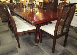 used furniture gallery 1 22910 hickory white table with 8 drexel chairs is sold 1 22910 hickory white table with 8 drexel chairs