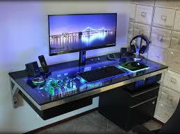 Recessed Monitor Computer Desk Best 25 Custom Desk Ideas On Pinterest Diy Striplights Corner