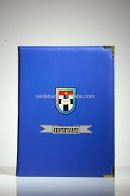 diploma holder top quality leather material diploma holder promotional diploma