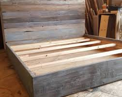 Bed Frame Foot Reclaimed Wood Bed Frame W Foot Board Reclaimed Wood Bed