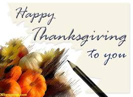 happy thanksgiving card for friends and relative post card from