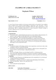 Example Of Marketing Resume by Example Of A Skills Based Resume Free Resume Example And Writing