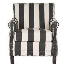 Accent Chairs Black And White Safavieh Homer Arm Chair Grey Blue White Hayneedle