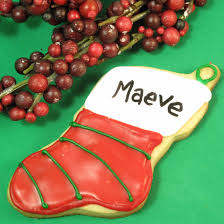 decorating christmas cookies as stocking cookies personalized with