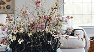 Flowers For Home Decor by Cherry Blossom And Dogwood Arrangement Martha Stewart