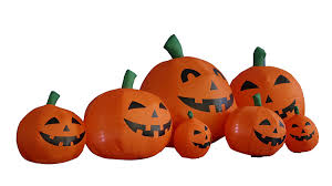 amazon com 7 5 foot long halloween inflatable pumpkins yard