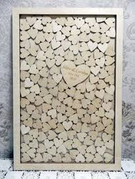 wedding wishes shadow box this guests sign their name on a wooden heart and
