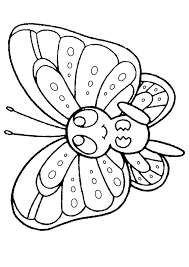 free printable kids colouring pages baby butterfly