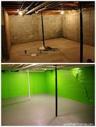 how to paint your basement floor tutorial so bright and well lit