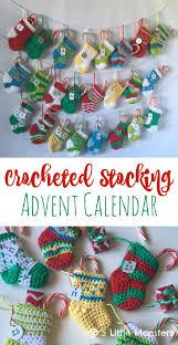 crocheted christmas 5 monsters crocheted advent calendar