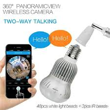 wifi camera light bulb socket 360eye s 1080p wireless bulb light ip camera wifi fisheye full view