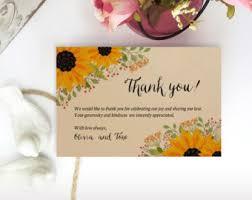 kraft thank you card etsy