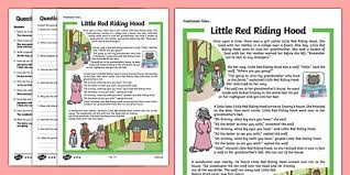 red riding hood traditional tales differentiated reading