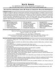 Construction Estimator Resume Sample by Appraiser Resume Example