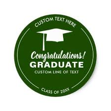 graduation cap stickers graduation class 2018 grad cap your color custom classic