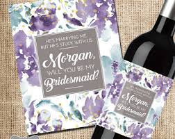 how to ask will you be my bridesmaid asking bridesmaid etsy