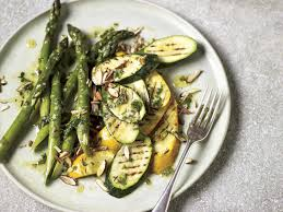 cuisin courgette chargrilled courgettes and asparagus with a tarragon dressing saga