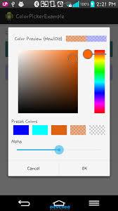 android color android color picker android app source code