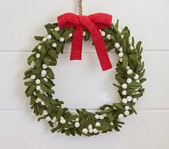 felt wreath pottery barn