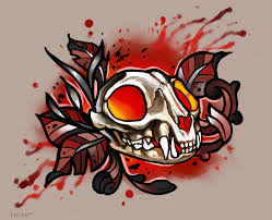 cat skull tattoo giveaway closed by mutated sushi on deviantart