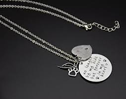 pet memorial necklace o riya loss of pet necklace dog cat sted jewelry pet