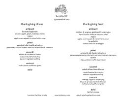 image gallery of traditional thanksgiving dinner menu list