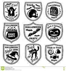 vector halloween vector halloween labels set with pumpkin skull ghost cauldron