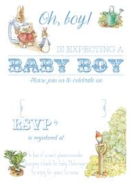 free printable peter rabbit baby shower invitation baby shower