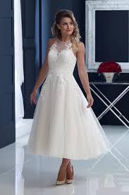 house of nicholas 2204 u2013 appliquéd lace over tulle t length dress