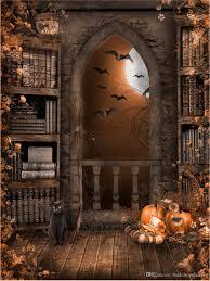 2017 vintage castle indoor bookshelf photo backgrounds black cat