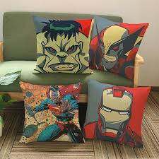 taie d oreiller pour canapé marvel héros de bande dessinée impression taie d oreiller pour