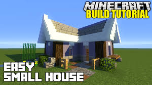 minecraft how to build a small house tutorial easy survival