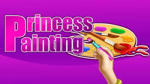 princess painting games coloring page